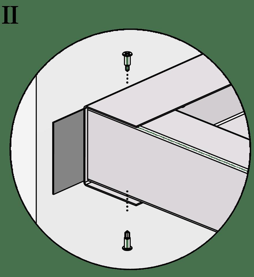 Gyproc fribärande undertak med GFR Förstärkningsreglar - Montering av reglar