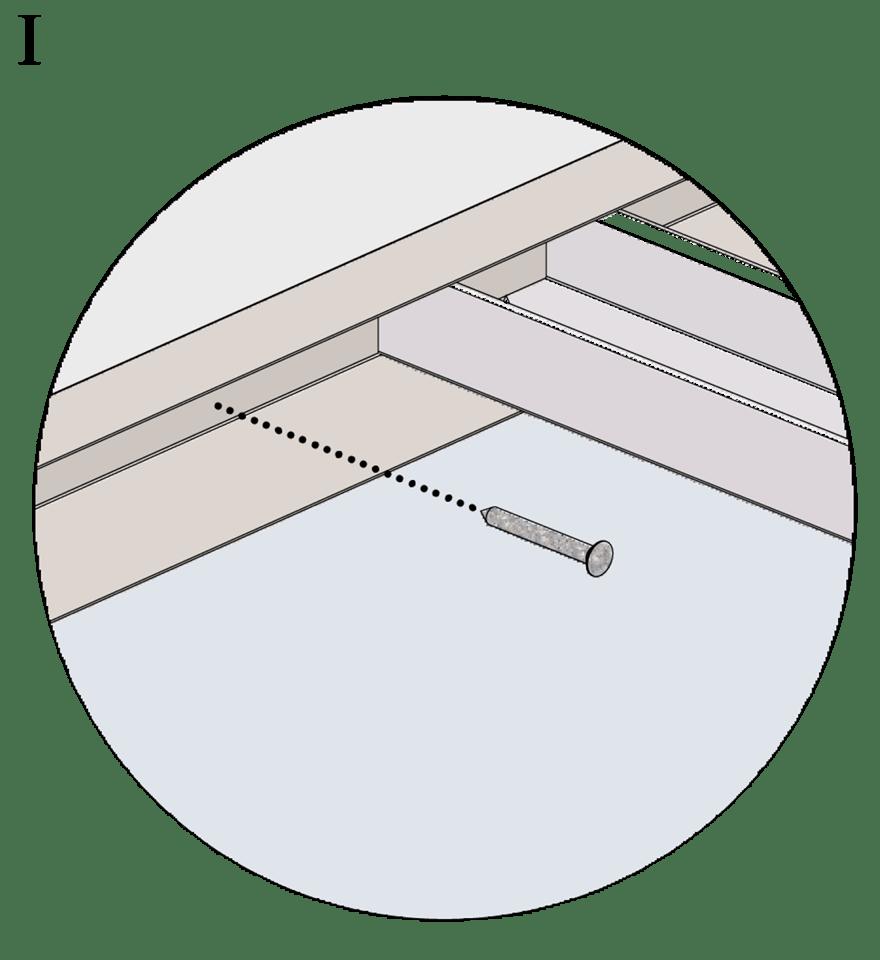 Nedpendlat undertak med Gyproc GK system i en nivå - Montering av kantskenor