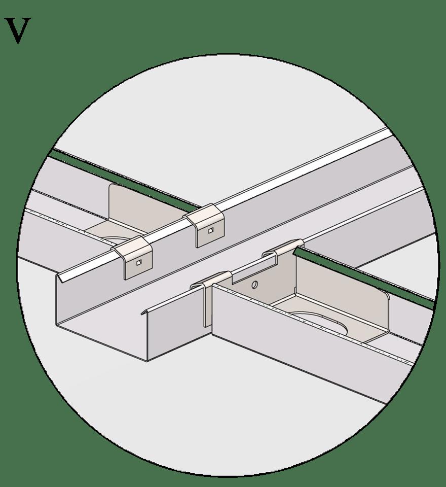 Nedpendlat undertak med Gyproc GK system i en nivå - Montering av tvärprofiler