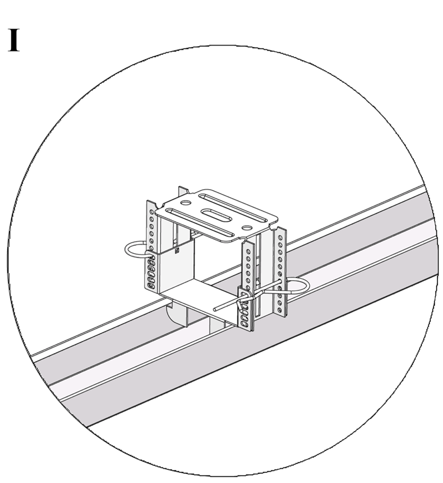 Nedpendlat undertak med Gyproc GK system i en nivå - GK 23 Justerbar infästning