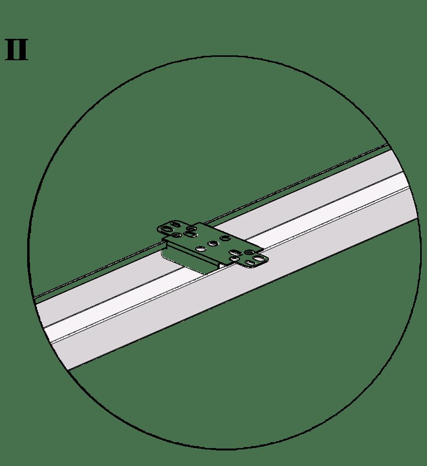 Nedpendlat undertak med Gyproc GK system i en nivå - GK 24 Fast infästning