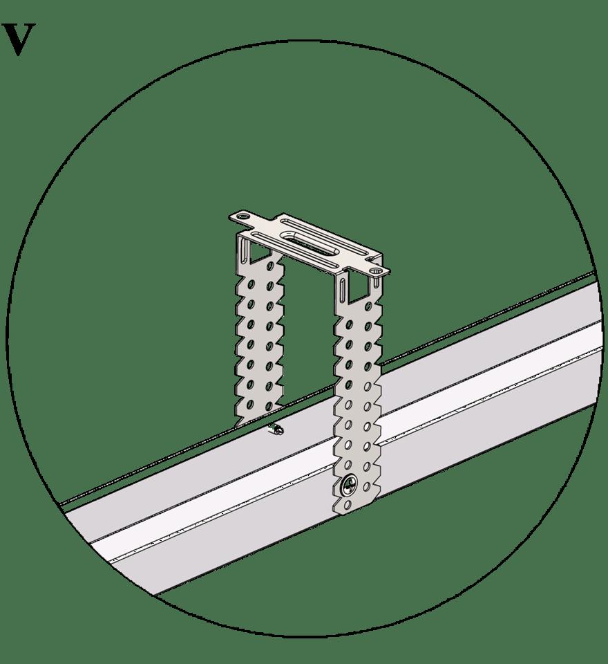 Nedpendlat undertak med Gyproc GK system i en nivå - GK 28 Justerbart direktfäste