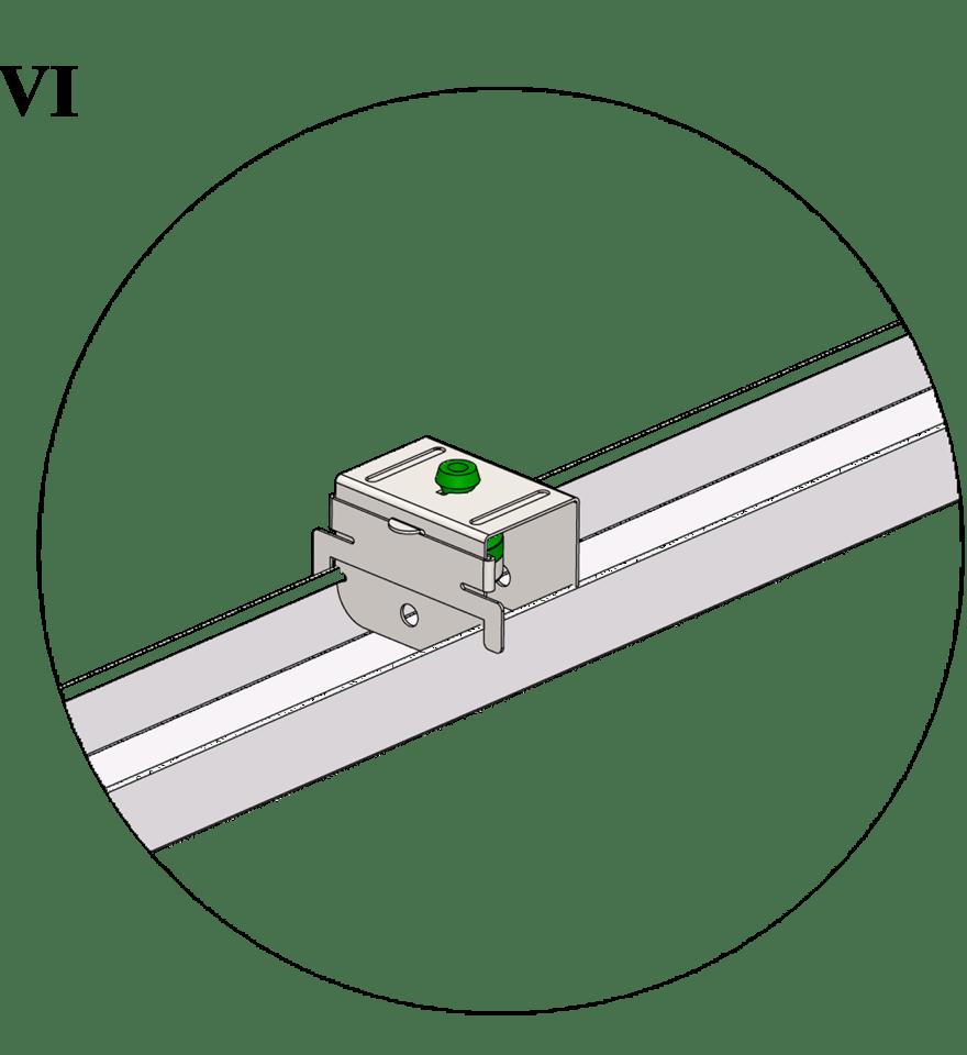 Nedpendlat undertak med Gyproc GK system i en nivå - GK 40 Vibrationsdämpande upphäng