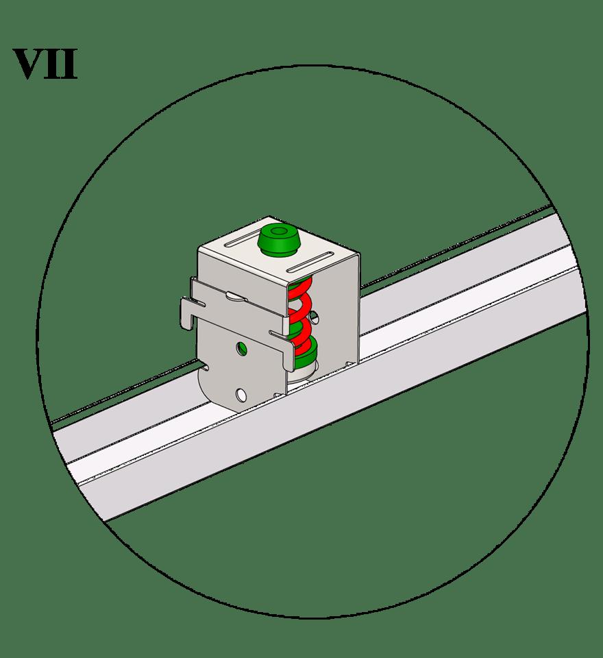 Nedpendlat undertak med Gyproc GK system i en nivå - GK 41 Vibrationsdämpande upphäng