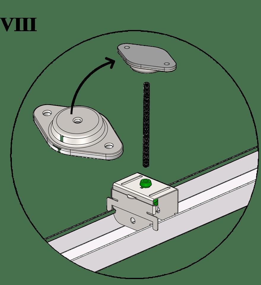 Nedpendlat undertak med Gyproc GK system i en nivå - GK 45 Topp