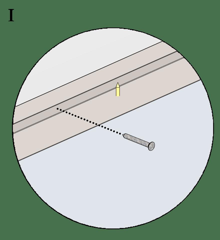 Nedpendlat undertak med Gyproc GK system i två nivåer - Montering av kantskenor