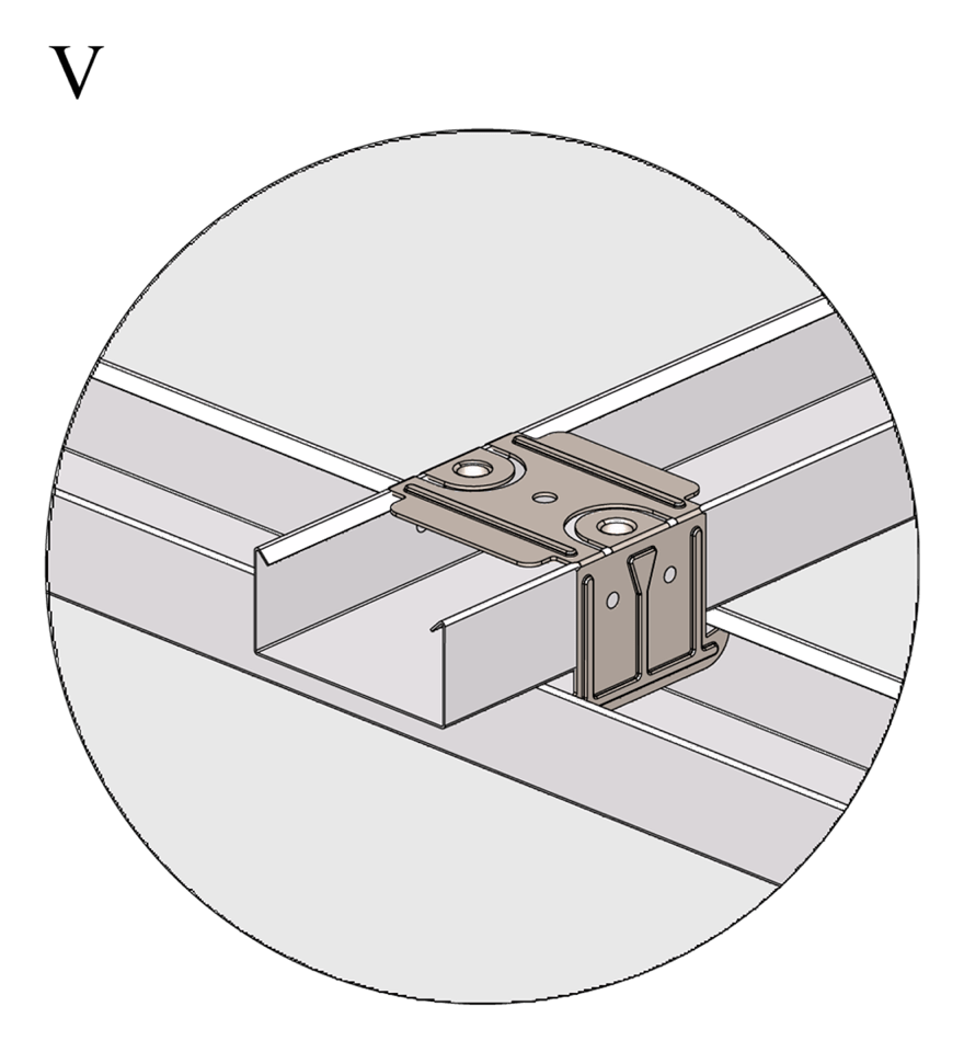 Nedpendlat undertak med Gyproc GK system i två nivåer - Montering av tvärprofiler