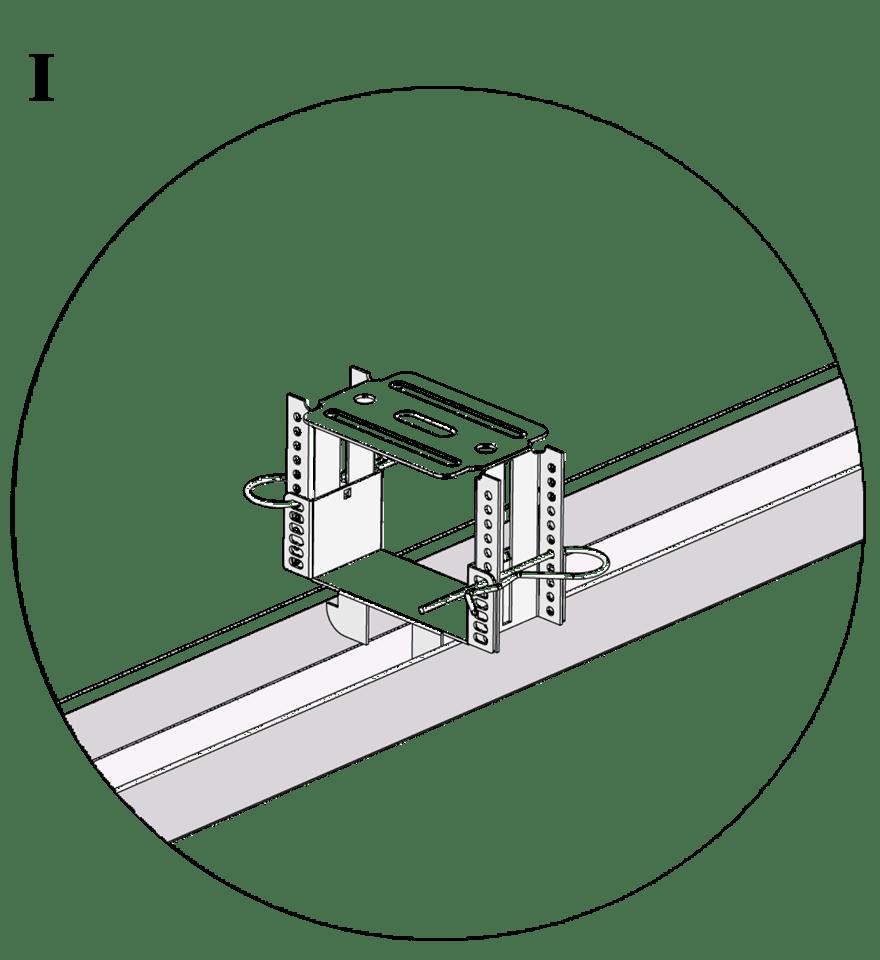 Nedpendlat undertak med Gyproc GK system i två nivåer - GK 23 Justerbar infästning