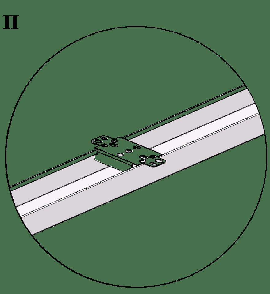 Nedpendlat undertak med Gyproc GK system i två nivåer - GK 24 Fast infästning