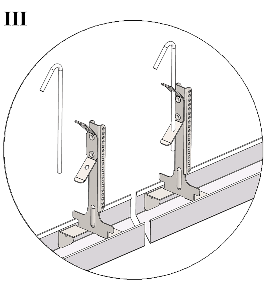 Nedpendlat undertak med Gyproc GK system i två nivåer - GK 26-25 Justerbar upphängning bas och GK 25 Upphängartråd