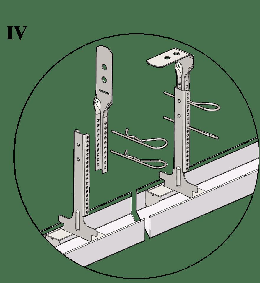 Nedpendlat undertak med Gyproc GK system i två nivåer - GK 26-27 Justerbar upphängning bas, GK 27 Justerbar upphängning topp och GK 29 Fjädersprint