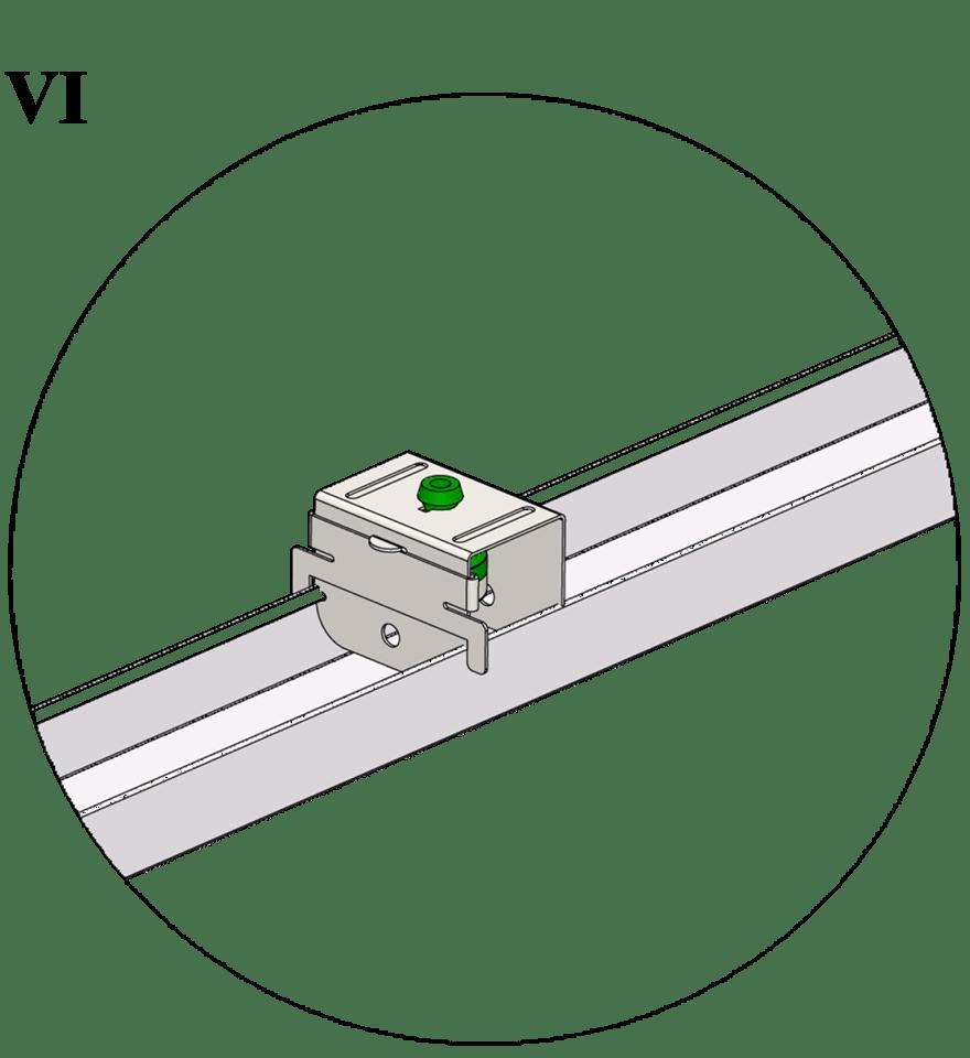 Nedpendlat undertak med Gyproc GK system i två nivåer - GK 40 Vibrationsdämpande upphäng för medelhöga och höga frekvenser
