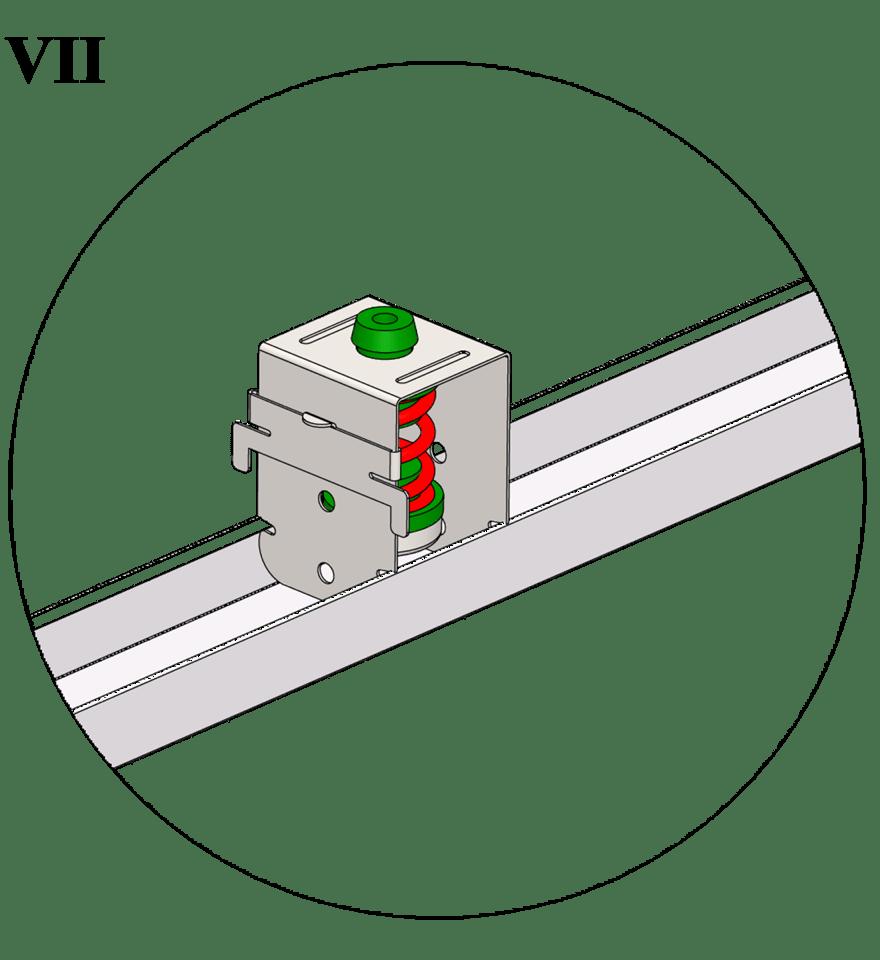 Nedpendlat undertak med Gyproc GK system i två nivåer - GK 41 Vibrationsdämpande upphäng