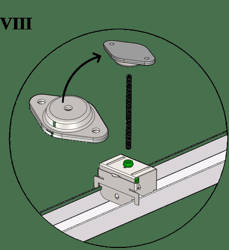 Nedpendlat undertak med Gyproc GK system i två nivåer - GK 45 Topp