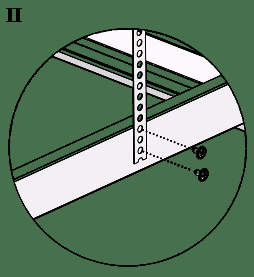 Nedpendlat Gyproc PS standardundertak med stålprofiler - Montering av upphängning