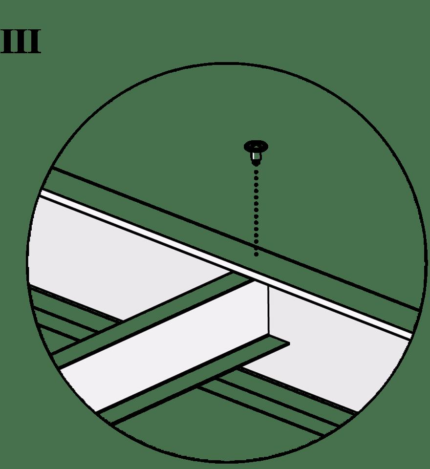 Nedpendlat Gyproc PS standardundertak med stålprofiler - Montering av bärprofiler