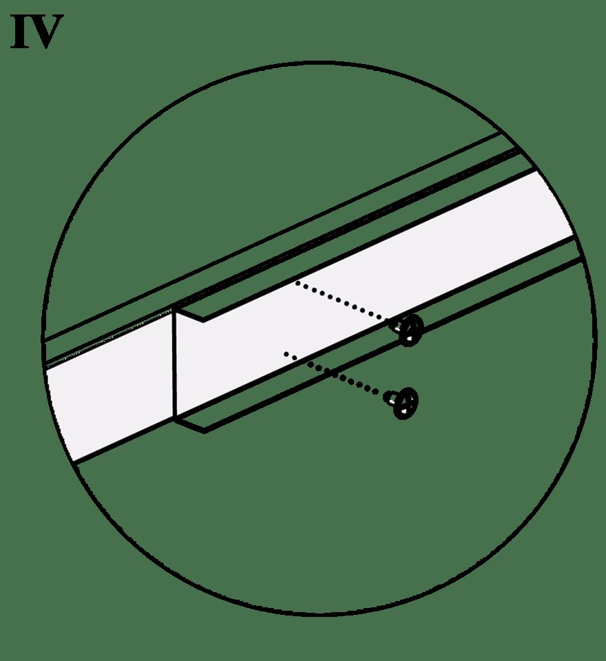 Nedpendlat Gyproc PS standardundertak med stålprofiler - Skarvning av profiler