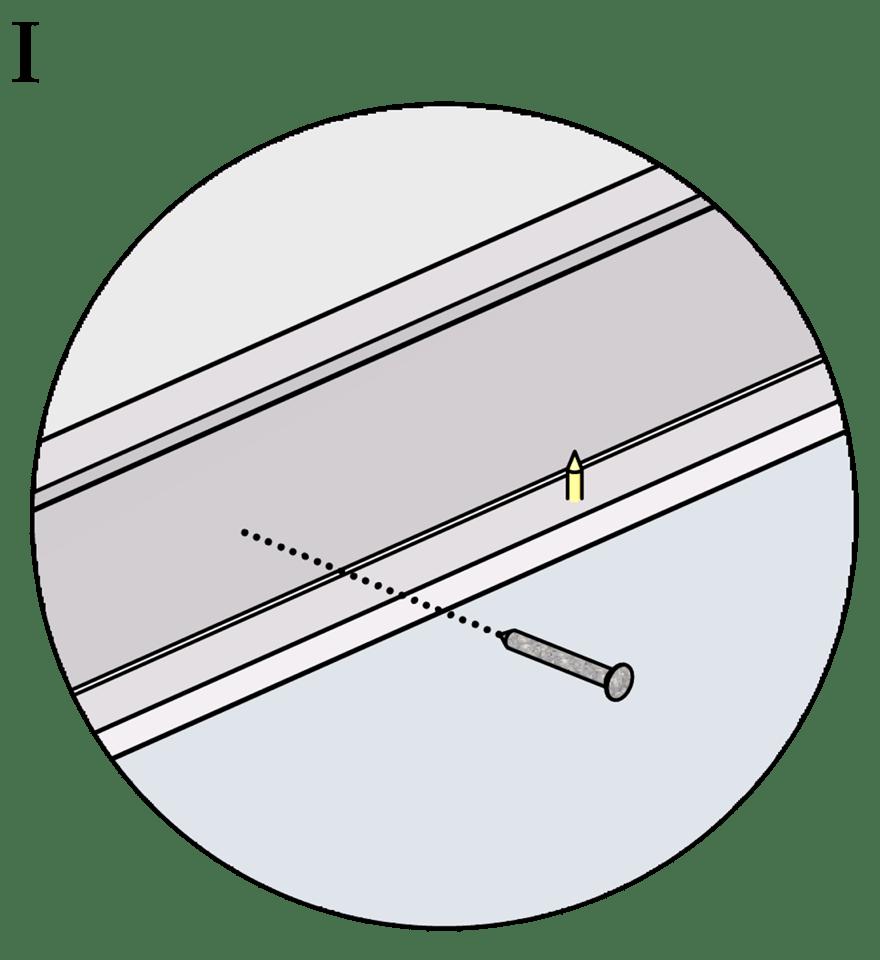 Fribärande undertak med Gyproc XR stålprofiler - Montering av kantskenor