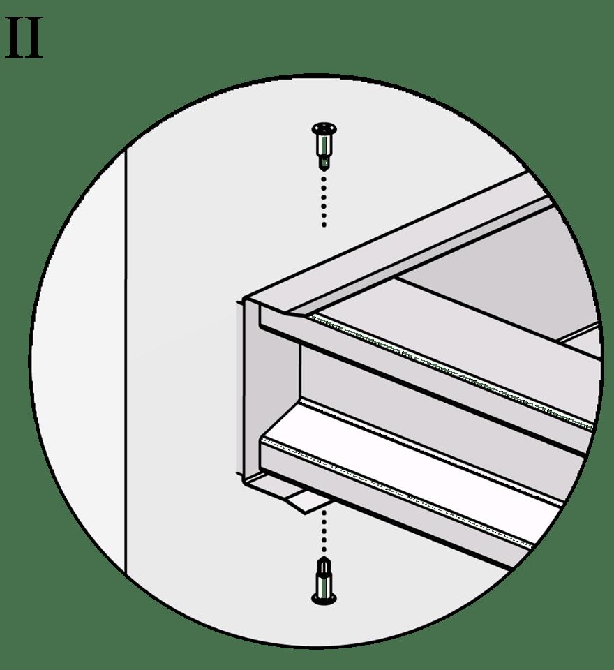 Fribärande undertak med Gyproc XR stålprofiler - Montering av reglar