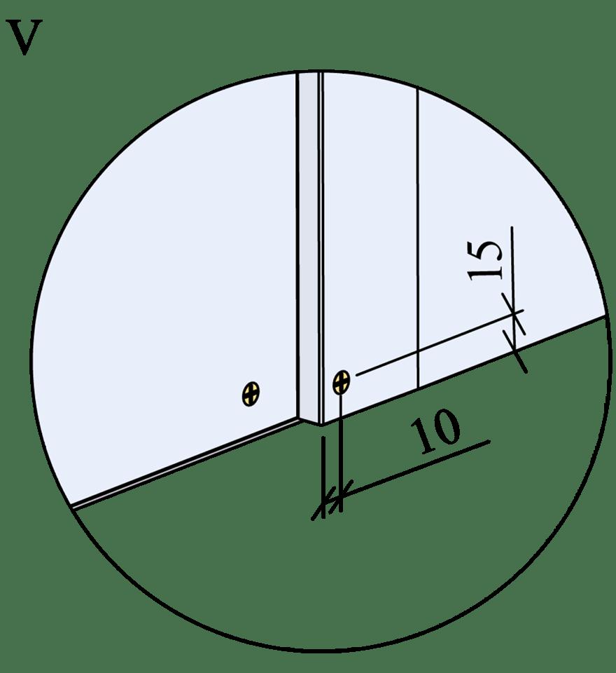 Innerväggar med Gyproc DUROnomic förstärkningsreglar c 600 - Montering av skruvar, kantavstånd