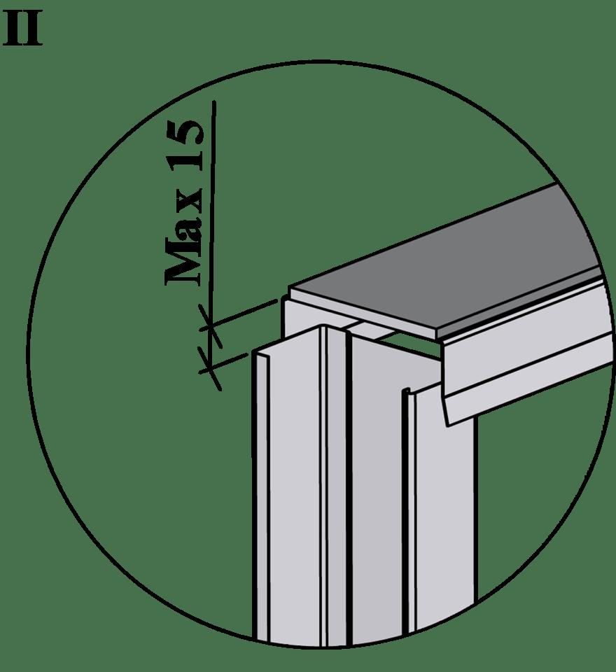 Innerväggar med Gyproc standardstålstomme c 450 - Montering av reglar