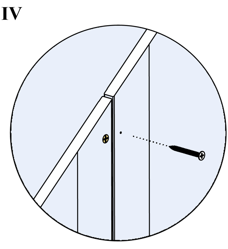 Innerväggar med Gyproc standardstålstomme c 450 - Montering av gipsskivor, andra lag