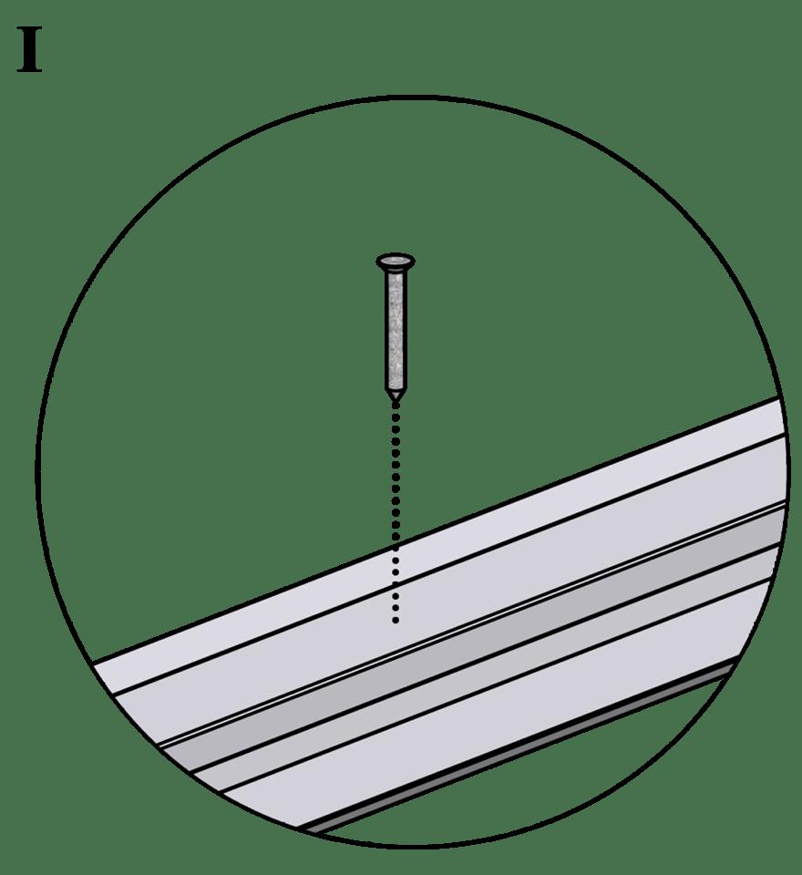 Innerväggar med Gyproc standardstålstomme c 600 - Montering av skenor