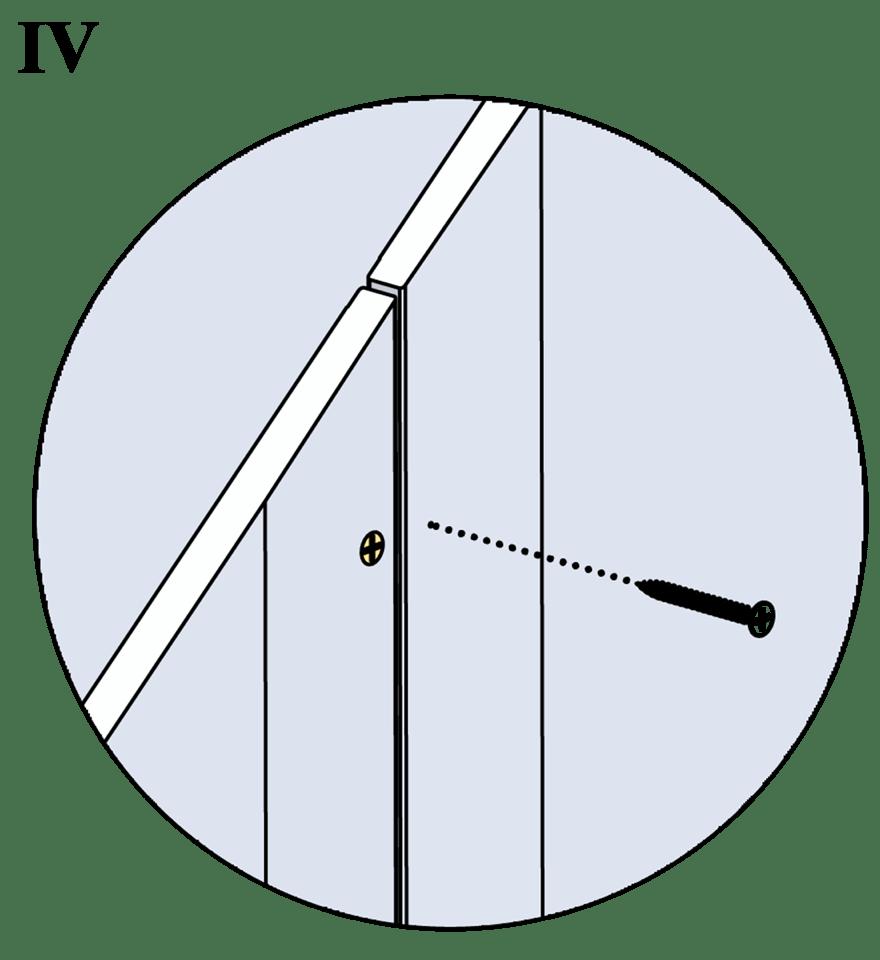 Innerväggar med Gyproc standardstålstomme c 600 - Montering av gipsskivor, andra lag
