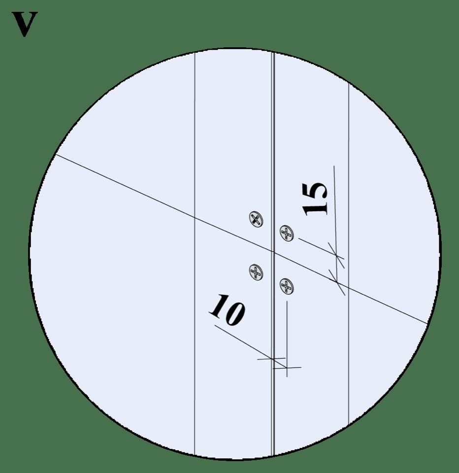 Wall-THZ-600E-NN-B-Montering av skruvar, kantavstånd