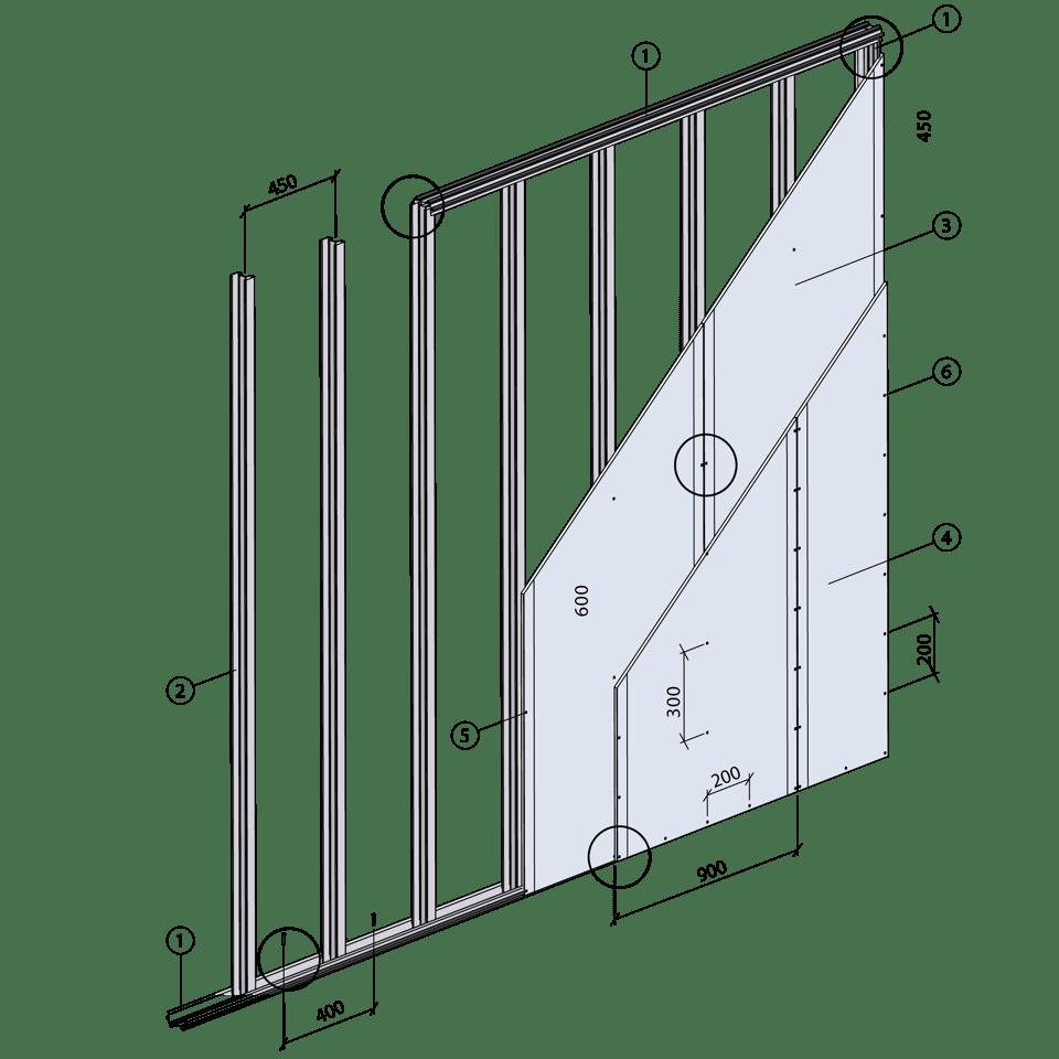 Innervägg XR 450 NN A Step1