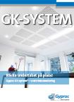 Gyproc GK - bärverk för nedpendlade undertak