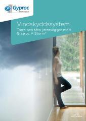 Glasroc H Storm - ytterväggar med vindskyddsskiva