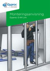Monteringsanvisning Gyproc G 44 Lim