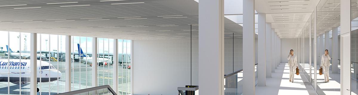 Snygga akustikplattor som ger rummet en god ljudmiljö