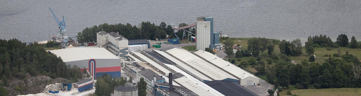 Gipsskivsfabriken i Bålsta