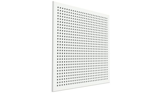 Akustikpanelplatta med kvadratiska hål - Gyptone INSTANT Quattro 20