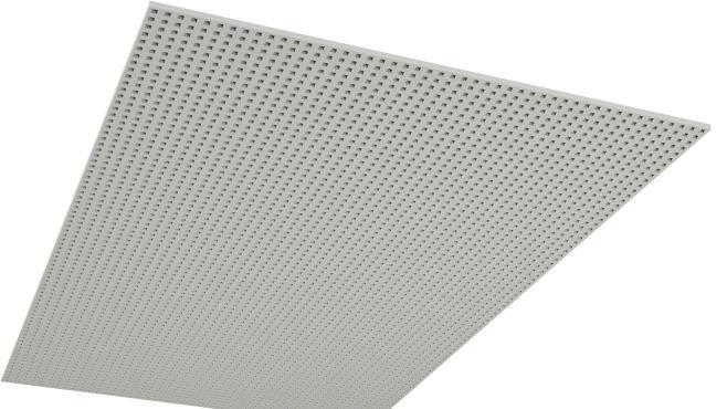 Skruvmonterad undertaksskiva i storformat med full perforering av kvadratiska hål - Rigitone BIG 12-25 Q