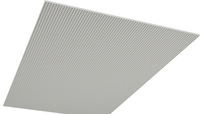 Skruvmonterad undertaksskiva i storformat med full perforering av kvadratiska hål - Rigitone BIG 8/18 Q