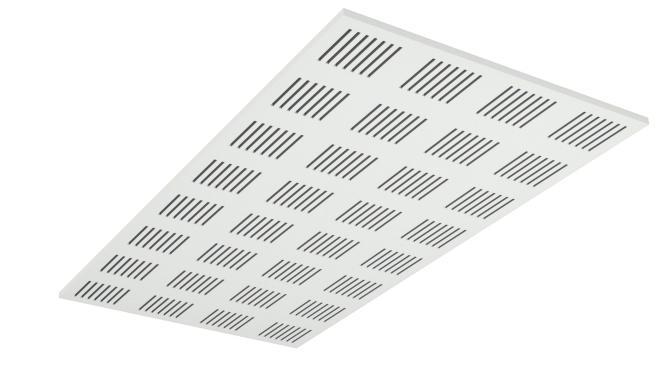 Demonterbar undertaksplatta med rektangulära hål - Gyptone Tile Line 4 med kant A 1200 mm