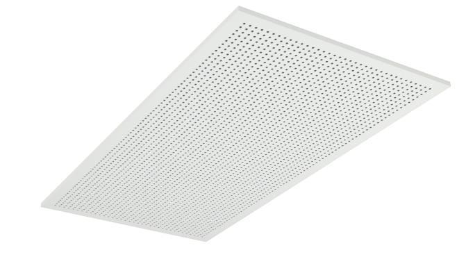Demonterbar undertaksplatta med runda hål - Gyptone Tile Point 11 med kant A, 1200 mm
