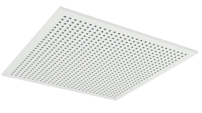 Demonterbar undertaksplatta med kvadratiska hål - Gyptone Tile Quattro 20 med kant A