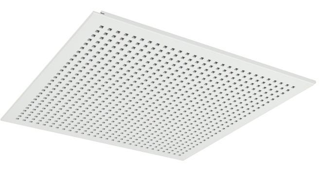 Demonterbar undertaksplatta med kvadratiska hål - Gyptone Tile Quattro 20 med kant D2