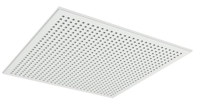 Demonterbar undertaksplatta med kvadratiska hål - Gyptone Tile Quattro 20 med kant E15