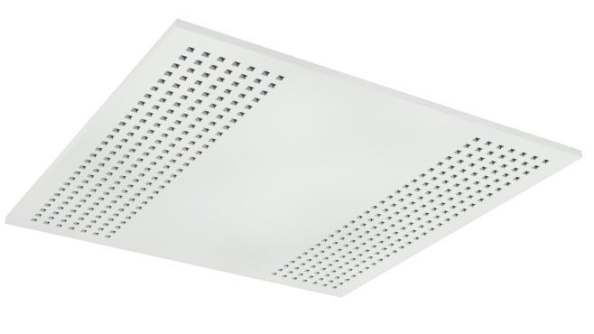 Demonterbar undertaksplatta med kvadratiska hål - Gyptone Tile Quattro 22 med kant A