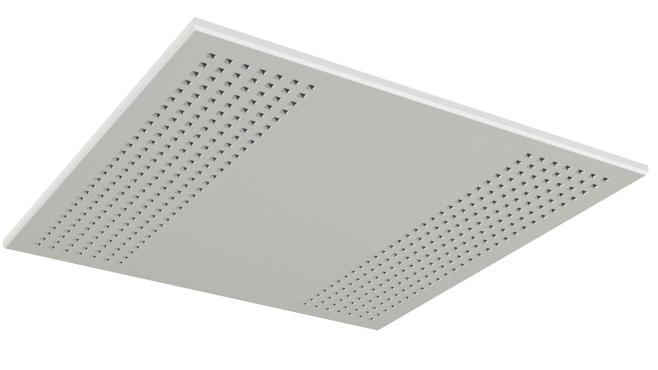 Skruvmonterad undertaksskiva med kvadratiska hål - Gyptone Tile Quattro 20 med kant B