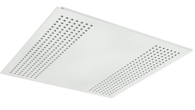 Demonterbar undertaksplatta med kvadratiska hål - Gyptone Tile Quattro 22 med kant D2