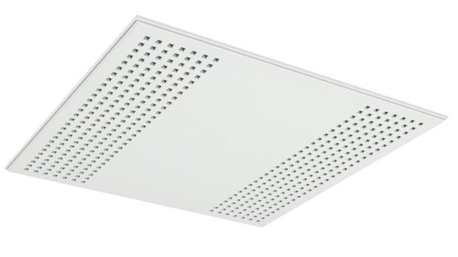 Demonterbar undertaksplatta med kvadratiska hål - Gyptone Tile Quattro 22 med kant E15