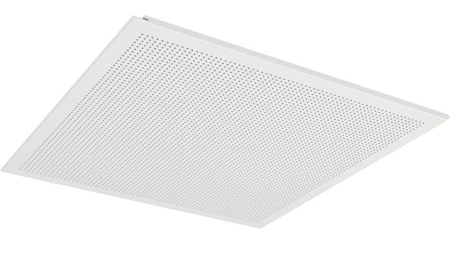 Demonterbar undertaksplatta med kvadratiska hål - Gyptone Tile Quattro 70 med kant D2