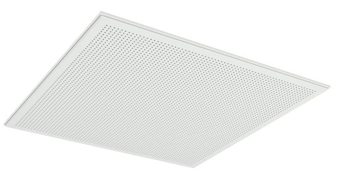 Demonterbar undertaksplatta med kvadratiska hål - Gyptone Tile Quattro 70 med kantE15