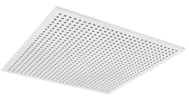 Demonterbar undertaksplatta med hexagonala hål - Gyptone Tile Sixto 60 med kant A